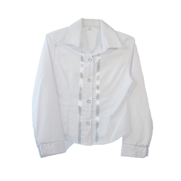 bluzka biała wizytowa z długim rękawem